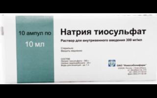 Тиосульфат натрия внутримышечно