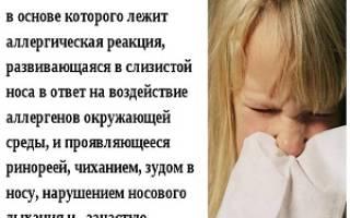 Капли в нос при аллергии