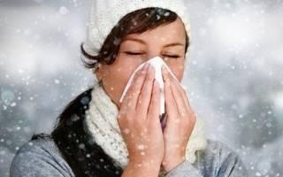 Аллергический ринит на холод